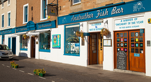 Anstruther Fish Bar and Restaurant, 42-44 Shore Street, Anstruther, Fife KY10 3AQ.
